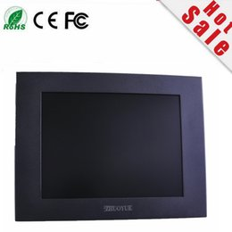 new strong 12 inch 4:3 1024*768 metal case touch screen industrial monitor waterproof display