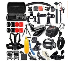Wholesale Gopro Accessories Set Helmet Harness Chest Belt Head Mount Strap Monopod For Go pro Hero xiaomi yi action camera GS0