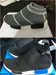 Wholesale 2016 Men Women Casual NMD boots socks Black Grey Runner Shoes Lightweight Breathable Comfortable Walking Shoes eur