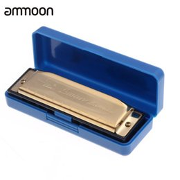 Promotion harmonica diatonique c cygne Swan Diatonic Harmonica 10 Trous Blues Harpe Orgue Organe de C Reed Instrument avec étui Golden