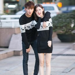 Wholesale Men s Sweater With Deer Winter Couple Matching Christmas Sweaters Reindeer Pullover Knitted Brand Polo Ugly Sweater