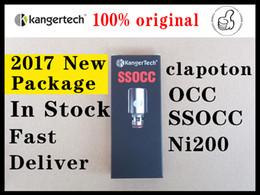 100% Authentic Big Size Kanger SSOCC Coils Head for Kangertech toptank Mini Replacement Coils clapton 0.5ohm 1.2ohm 1.5ohm Free Shipping