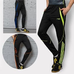 Wholesale 2016 Zipper pocket Soccer Training Long Pants Professional Men Football game And Running Athletic Sportswear Jogging Trousers
