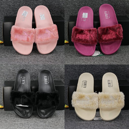 Wholesale 2017 Hot Puma Leadcat Fenty Rihanna Shoes Men Women Slippers Indoor Sandals Girls Scuffs Cheap Fur Slides Fashion Best Quality