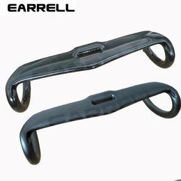 EARRELL matt gray black road handlebar internal cable bike handlebar 31.8*400 420 440mm carbon road handlebar cycling parts
