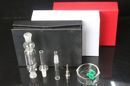 Wholesale DHL Free Black White Red Micro NC Kit Honey Straw Micro NC mm with titanium nail mini glass water bongs