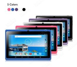 Acheter en ligne Dual core tablet pc-IRULU 7 pouces Q88 ALLwinner A33 Quad Core Tablet PC Wifi Android 4.4 512MB 8GB 1024 * 600 double caméra Livraison gratuite