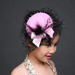 Fashion Ribbon Bow Flower Party Cap Hairpins Festival Hat Hair Clip Hair Accessories Hair Clip Christmas Costume Girl Gifts 2017