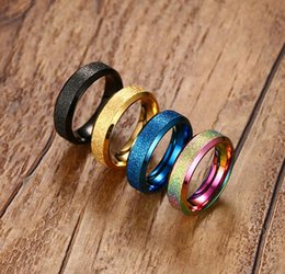 Wholesale Alibaba Trending Women Stainless Steel Dull Polish Rings Four Color