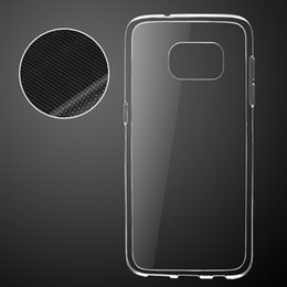 For Galaxy S8 High Quality Thick 1.4MM Transparent Clear TPU Gel Soft Case Silicone Cover Anti waterPrint For Samsung S7 S6 EDGE