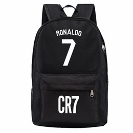 Free shipping Madrid Ronaldo backpack designer backpacks football bags sport waterproof bags kids school bags for teenage boys girls