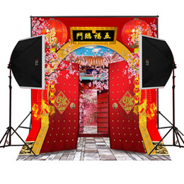 chinese fortune new year garden scenic photography backdrops for families photos camera fotografica digital props studio photo background
