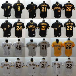 Wholesale Men s Pittsburgh Pirates Andrew McCutchen Gerrit Cole Gregory Polanco Starling Marte Black Baseball Stitched top Jerseys