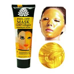 Wholesale 24K Golden Collagen Facial Mud Mask Anti Wrinkle Anti Aging Remove Blackhead Pore Cleaner Moisturising Whitening