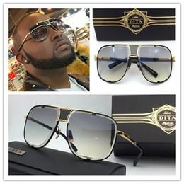 Descuento marcos libres 2017 nuevas gafas de sol del Mach cinco de Dita DRX 2087 el oro de calidad superior 18k plateó el envío libre eyewear de las mujeres modelo unisex del hombre del marco del metal
