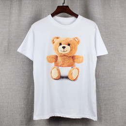Wholesale 2017 new high end men s brand t shirt fashion Cute and cuddly Little bear printing atmosphere t shirt long sleeved t shirt men