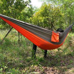 Outdoor parachute fabric hammock Tents and Shelters Hammocks Camping leisure swing chair 260CM*140CM