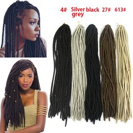 Wholesale 20 quot Havana Mambo Twist Crochet Braid Hair Extensions Synthetic Faux Locs Synthetic Dreadlocks Braids Hair Extensions Soft Black Braid Hair