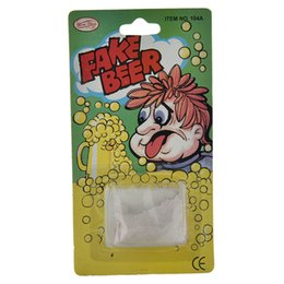 Wholesale Fake Beer Powder Trick Toys April Fool Joke Gags Trick Toys Novelty Funny Gags Practical Jokes Trick Beer Kids Gifts
