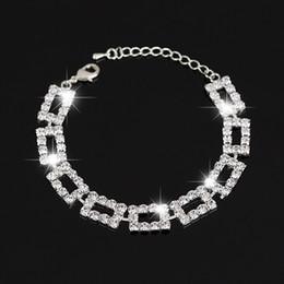 The bride adorn article Wedding Bracelets & Bangles New Arrival full star super shiny rhinestone crystal silver ladies link chain bracelets