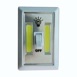 Wholesale 2016 High Quality COB LED Switch Light Wireless Cordless Under Cabinet Closet Kitchen RV Night Light Best Gift