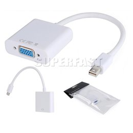 Wholesale DP to VGA Display Port Male to VGA Female Mini Audio Converter Adapter Cable For MacBook Air Pro MDP Laptop with OPP Package