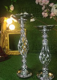 wedding table flower holder decor metal crystal stand Candelabra pan Candle Holder party hotel Centerpiece flower display