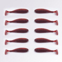 Artificial Fake Bait 10pcs lot 8.8cm 3.1g T tail soft lure for bass Fishing Bait Fishing lures worm fly fishing wobblers