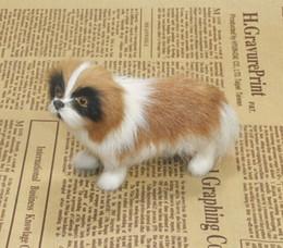 Wholesale 3 piezas de un pequeño juego de simulación de juguete plasticfur St Bernard perro muñecas regalo