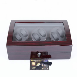 Free Shipping High quality Luxury Wooden 6 + 7 Slots Automatic Watch Multicolor WATCH WINDER STORAGE DISPLAY CASE BOX AUTOMATIC ROTATION Box