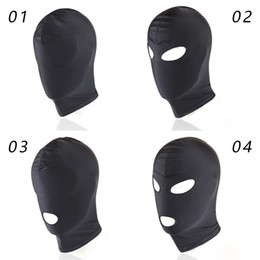 Bondage Hood Covers for Sex Soft Elastic Full Masks for Adults Play Games Fetish Open Mouth Bondage Tools