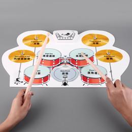 Wholesale Venta al por mayor Venta de silicona electrónica USB Roll Up Drum Kit con pedales de pedal musical