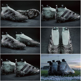 Wholesale 2017 Adidas Shoes Ace16 Purecontrol FG AG Primeknit Soccer Cleats Trainers Slip On Ace Mens Football Boots Soccer Shoes With Box