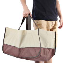 Wholesale Wear Resistant Veranda Log Tote Firewood Carrying Bag D Oxford Cloth Handbag Outdoor Bags