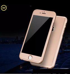 360 Degree Full Coverage Tempered Glass Hybrid Protective Cover Case For iPhone x 5 se 6 6s plus 7 8 plus J3 J5 J7 2017 J3 J5 J7 PRO 300PCS
