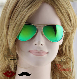 Una visión superior en venta-El vidrio grande del metal de los hombres polarizó las gafas de sol superiores del conductor de la visión, lente sintética del flash, accesorios de las gafas de sol del gradiente de la manera de las señoras.