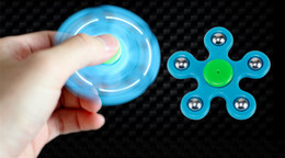 Fidget Spinner Hand Stress Anxiety Relief Toy Handspinner Killing Time Fingertips Spiral Fingers Five Beads EDC