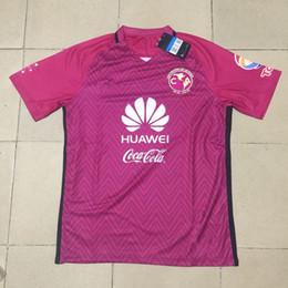 Camisetas de fútbol de color rosa en Línea-Top Merixo Liga MX Club América Camisetas de fútbol Retro 16/17 Maillot De Foot 100 Años Centenario Rosa Negro Amarillo Rojo Camisetas de fútbol
