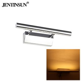 Jentinsun bathroom mirror light, 3W warm white   white LED hot mirror, headlight with switch, high quality impervious steel, 180 degree regu