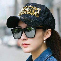 Spring and summer sun cape cap girl hip hop hat sun hat sports duck tongue sequins hat