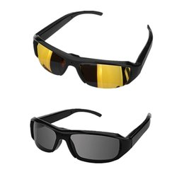 1080p 30fps Super Eyewear DVR Mini Glasses Camera Portable Camcorder Eyewear Sunglasses Video Recorder Mini DV Cam Gold Black Lens