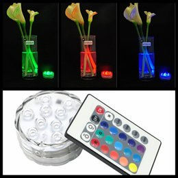Wholesale Candle Pool - 3 model SMD5050 10LED Submersible Candle Lamp Remote Control Multicolor Floral Vase Base Waterproof Light Wedding Birthday Party Decoration