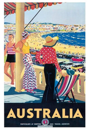 Wholesale Vintage Travel Australia Poster Hand Painted Modern Art Oil painting Bondi Beach Home Wall Decor High Quality Canvas Multi sizes