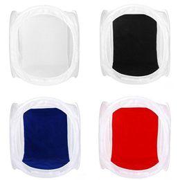 60 x 60cm Photo Studio softbox Shooting Tent Softbox Box tente photo légère + sac portable + 4 Toiles de contact couleur couleur lentilles de contact à partir de photo boîte de tente fabricateur