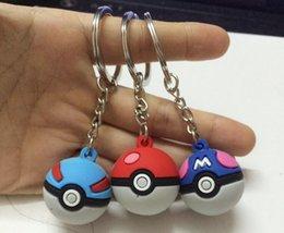 Wholesale Pokeball Figure Poke Ball Master Ball Dive Love Park Ball Plastic PVC Keychains Anime Pendant cm in Diameter Toys Gift best