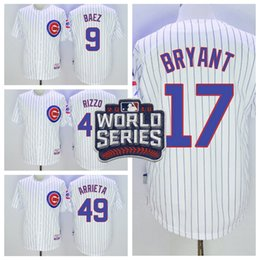 Wholesale Cubs Kris Bryant White Home Team Jersey Cheap Javier Baez Baseball Jerseys Mens Baseball Shirts Stitched Word Series Patch