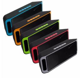Promotion boîte de haut-parleur de radio Sc208 Bluetooth 4.0 Haut-parleur sans fil portable TF USB Radio FM Haut-parleur Bluetooth double haut-parleurs de caisson de graves de graves dans la boîte DHL Free