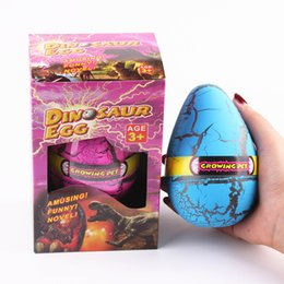 Wholesale 12 cm Dinosaur egg hatchimal eggs Animals eggs growing pet hatching out animals novelty games w gift box