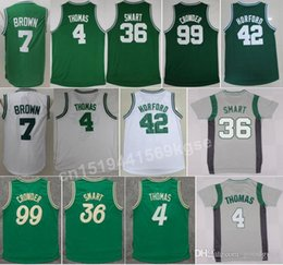 Wholesale Hot Jaylen Brown Shirt Uniform Al Horford Marcus Smart Jersey Green White Jae Crowder Fashion Christmas Best Quality