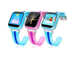 Descuento dispositivo de niño perdido El reloj elegante del teléfono del bebé de Q100 GPS mira la mirada elegante de la pantalla táctil de Wifi de la localización del GPS del reloj La llamada SOS Anti-Perdió los niños Q90 +